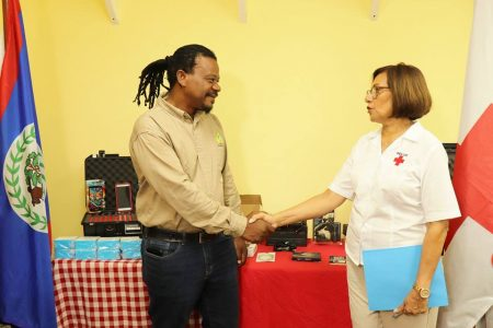 BELIZE RED CROSS TRAINS & DONATES EQUIPMENT...