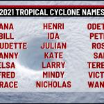 2021 TROPICAL CYCLONE NAMES